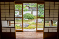 japansk gammal lokalshojitatami Arkivbild