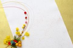 Japansk garnering för nytt år Arkivbild