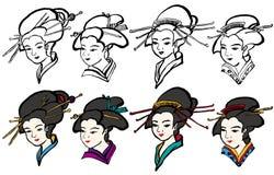 Japansk geisha Royaltyfri Foto