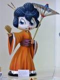 Japansk Geisha Girl med slags solskydd arkivbilder
