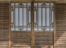 Japansk glidande pappers- dörr Arkivbilder