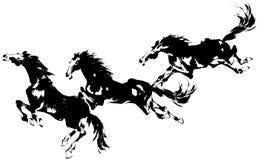 Japansk häst Royaltyfria Bilder