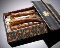 Japansk halstrad unagikokkonst Arkivfoton