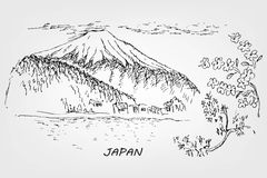 Japansk illustration Arkivfoto