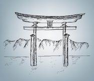 Japansk illustration Fotografering för Bildbyråer