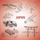 Japansk illustration Royaltyfri Fotografi