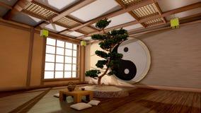 Japansk inre Arkivbild