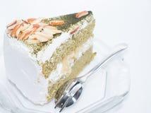 Japansk kaka för grönt te för matcha Royaltyfri Bild