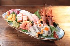Japansk kokkonst av sashimien Fotografering för Bildbyråer