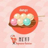 Japansk kokkonst Japansk kock Uppsättning av japansk traditionell dis royaltyfri illustrationer