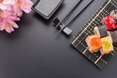 Japansk kokkonst Sushi royaltyfria foton