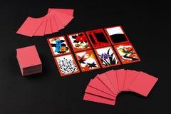 Japansk kortspelhanafuda arkivbild