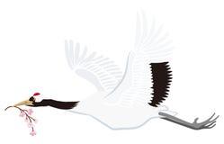 Japansk kran för flyg som isoleras vektor illustrationer