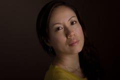 Japansk kvinnaHeadshot Royaltyfri Foto