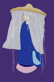 japansk lady Stock Illustrationer