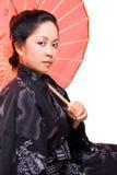 japansk lady Royaltyfri Fotografi