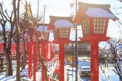 Japansk lamppol Fotografering för Bildbyråer