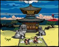 japansk liggande Arkivbild