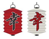 japansk lykta vektor illustrationer