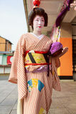 japansk maiko Arkivfoton