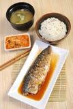 Japansk mat - grillad fisk Royaltyfri Foto