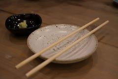 Japansk matmaträtt på tabellen Arkivfoto