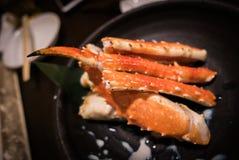 Japansk maträtt Taraba-Gani, röd konung Crab fotografering för bildbyråer