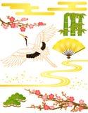 japansk modell vektor illustrationer
