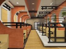 japansk modern stil för cafe Arkivfoton