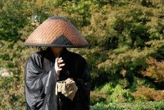 japansk monk Arkivfoto