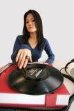 japansk musikspelarekvinna arkivfoto