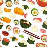 Japansk nationell kokkonstdisk och sömlös modell för mål royaltyfri illustrationer