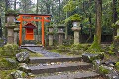 Japansk naturtempel Fotografering för Bildbyråer