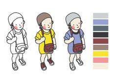 Japansk pojke Arkivbild