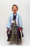 Japansk pojke på den Seven-Five-Three festivalen Royaltyfri Bild