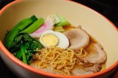 japansk pork ramen Arkivfoto