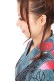 japansk profilkvinna Royaltyfri Fotografi