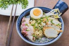 Japansk ramennudel för asiatisk mat Fotografering för Bildbyråer