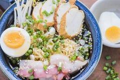 Japansk ramennudel för asiatisk mat Arkivfoto