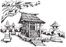 Japansk relikskrin Royaltyfri Fotografi
