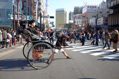 japansk rickshaw Arkivbild
