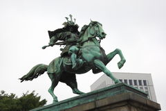 Japansk riddarestaty Royaltyfri Fotografi