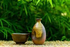 japansk sake royaltyfria foton