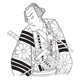 japansk samurai Royaltyfria Foton