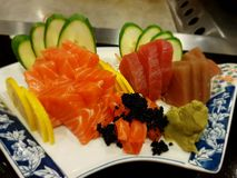 japansk sashimi Arkivbilder