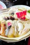 Japansk Shabu Sukiyaki stil arkivbild