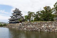 Japansk slott Matsumoto Royaltyfri Fotografi