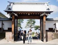 Japansk slottport Royaltyfri Foto
