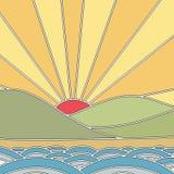 Japansk sol Royaltyfri Bild