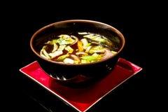 japansk soup Arkivbilder